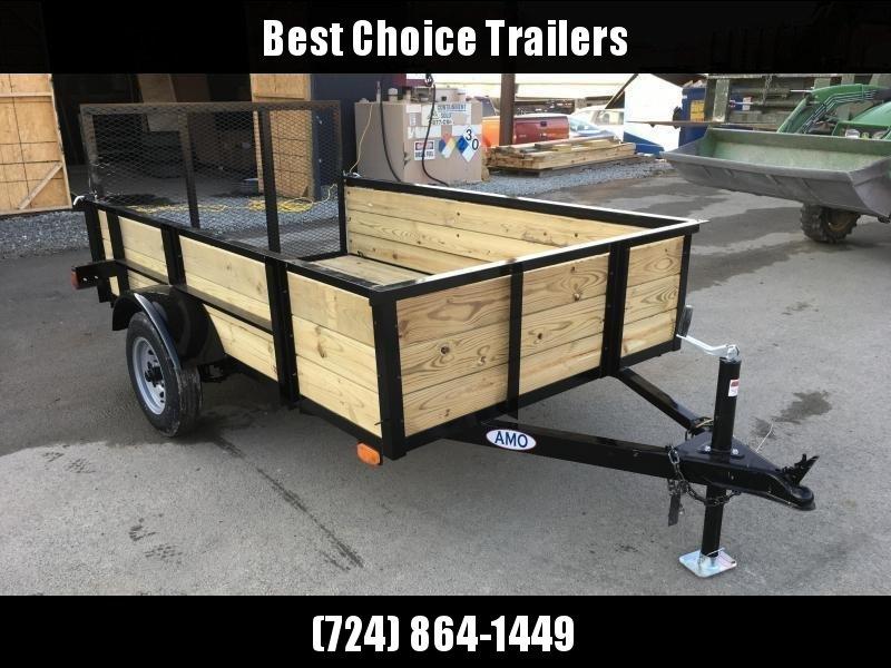 2019 AMO 5x8' Wood Side Utility Trailer 2200# GVW