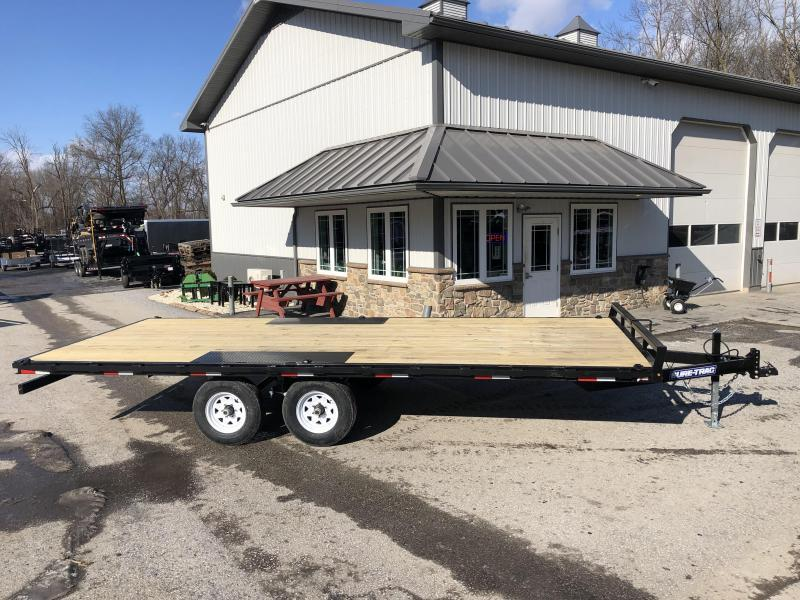 2019 Sure-Trac 102x20' LP Straight Deckover Trailer 9900#  - 8' SLIDE OUT RAMPS