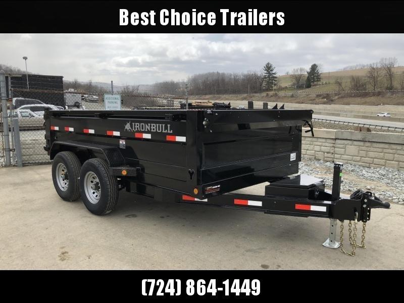 USED 2018 Iron Bull 7x12' Dump Trailer 14000# GVW RAMPS * TARP * SCISSOR