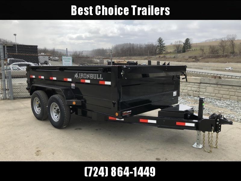 USED 2018 Iron Bull 7x12' Dump Trailer 14000# GVW RAMPS * TARP * SCISSOR in Ashburn, VA