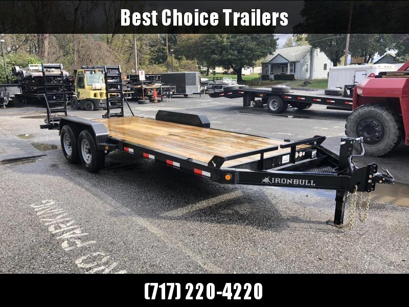 2019 Ironbull 7x20' Equipment Trailer 14000# GVW * NEW I-BEAM FRAME * FRONT TOOL TRAY * UNIBODY FRAME DESIGN