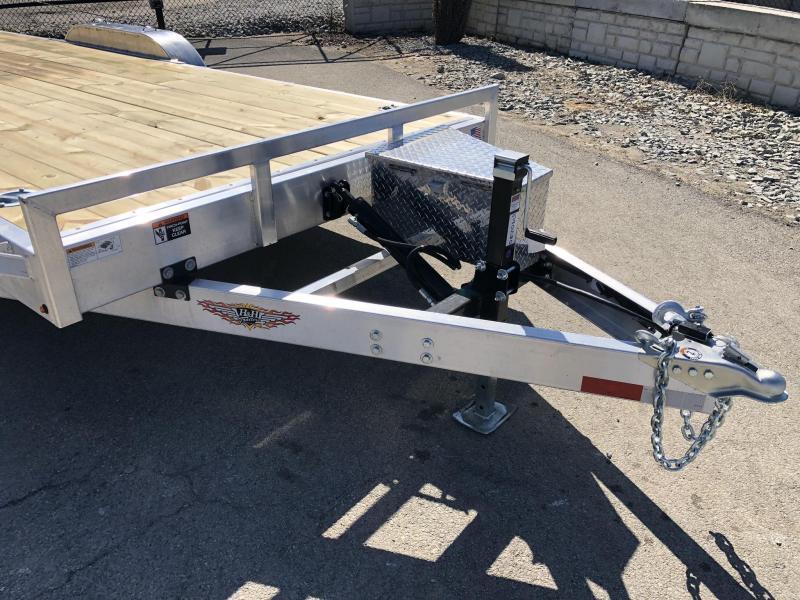 2019 H&H 7x20' Aluminum Power Tilt Car Trailer 9990# GVW * TOOLBOX