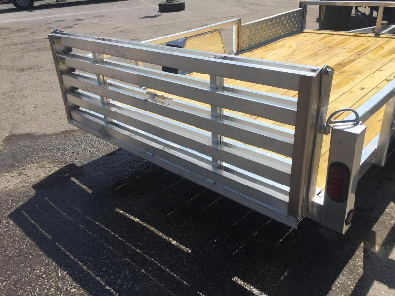 2019 QSA Deluxe 6x10' 2990# DELUXE Aluminum Landscape Utility Trailer * CLEARANCE - FREE ALUMNIUM WHEELS
