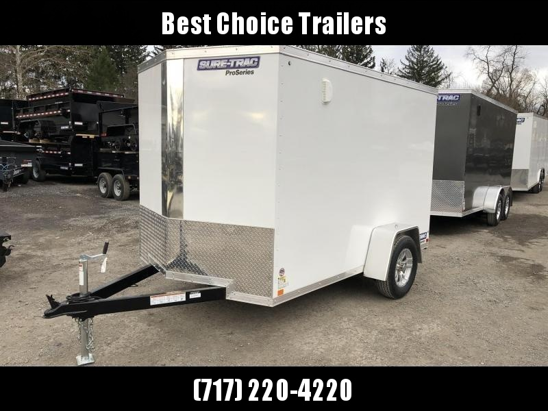 2019 Sure-Trac 6x12 STW Enclosed Cargo Trailer Ramp Door * WHITE * STW7210SA