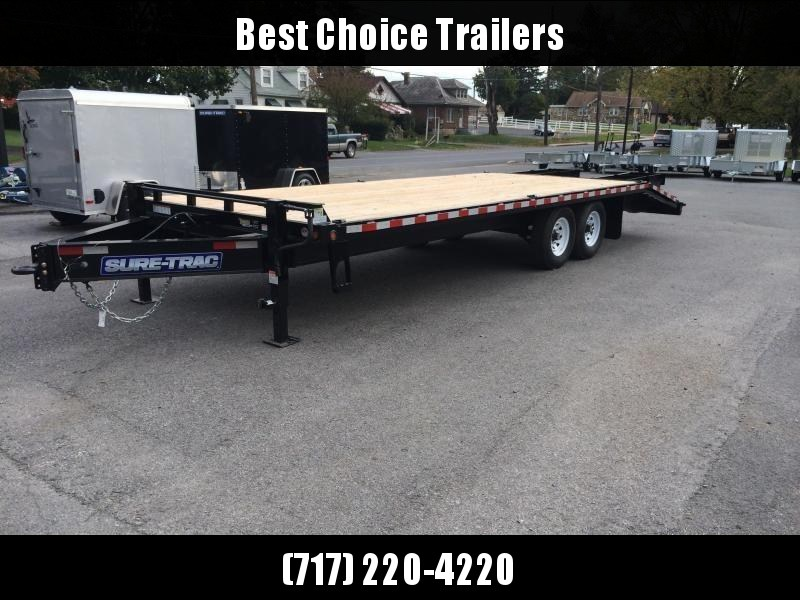 2018 Sure-Trac 102x20+5 15K Beavertail Deckover Trailer * MUD FLAPS