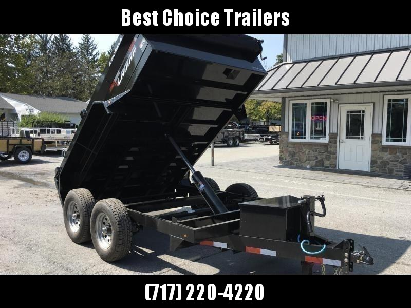 2019 Lamar 77x10' Dump Trailer 9990# GVW * TARP * RAMPS * SPARE MT * 10K JACK * CHARCOAL in Ashburn, VA