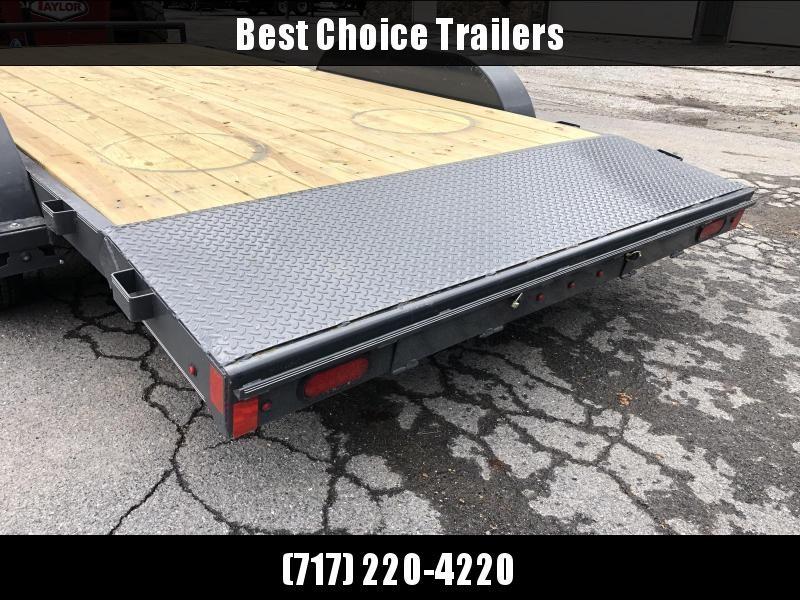 2019 Lamar 7x16 7000# Wood Deck Car Hauler Trailer * ADJUSTABLE COUPLER * DROP LEG JACK * REMOVABLE FENDERS * EXTRA STAKE POCKETS * CHARCOAL * 4 D-RINGS