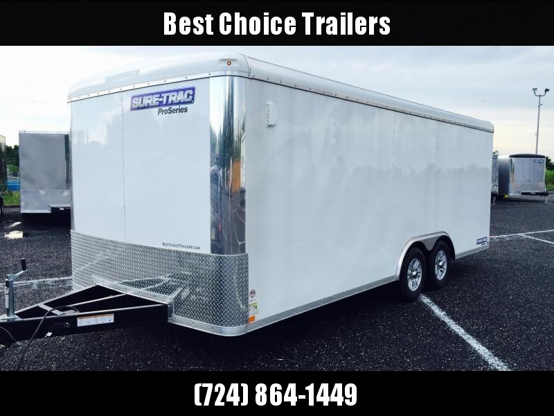 2018 Sure-Trac 8.5x24 Round Top Car Hauler 9900# GVW WHITE