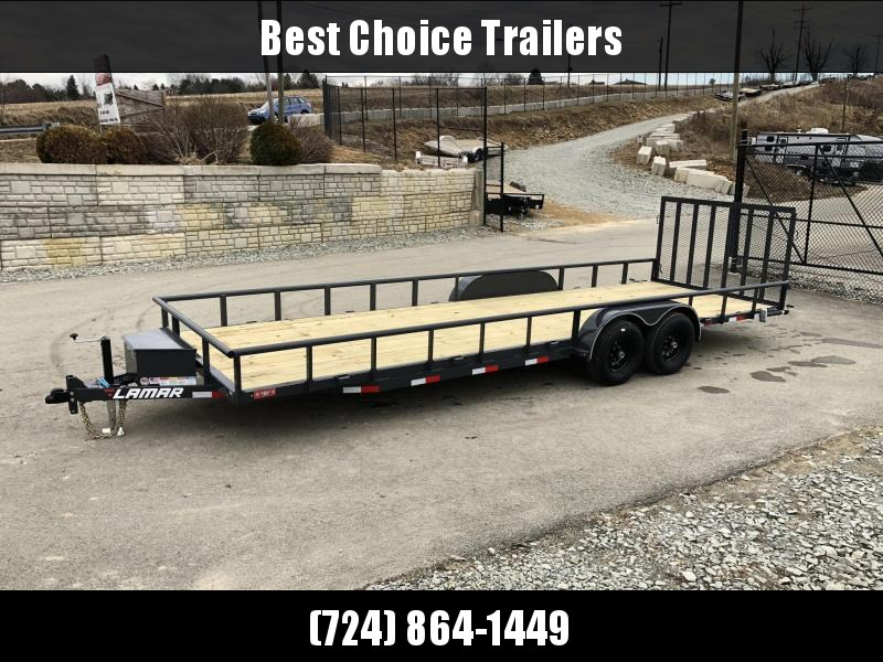 2019 Lamar 7x24' Pipe Top Channel Frame Utility Landscape Trailer 9990# GVW * UC832425 * TOOLBOX * SWIVEL JACKSTANDS * ADJUSTABLE COUPLER * DROP LEG JACK * PIPE TOP * UTV HAULER * COMMERCIAL LANDSCAPER