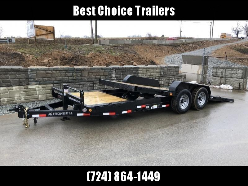 2018 Ironbull 7x16+4 Gravity Tilt Equipment Trailer 14000# TORSION * STOP VALVE * CLEARANCE