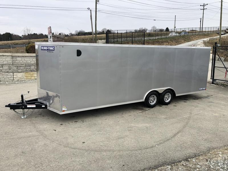 2019 Sure-Trac 8.5x24' Enclosed Car Trailer 9900# GVW * SILVER * 7K DROP LEG JACK