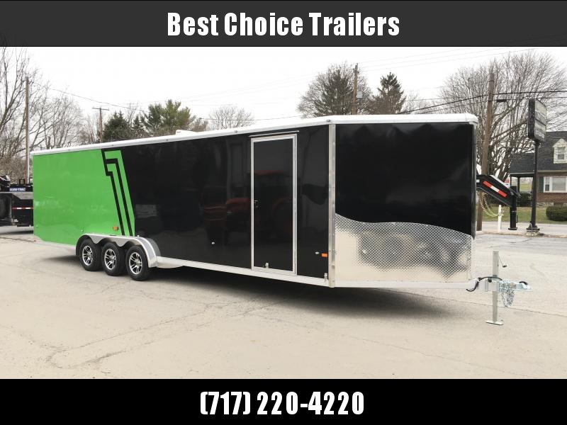 2018 NEO 7.5x33' Aluminum Enclosed All-Sport Trailer 9990# GVW LOADED * UTV * ATV * Motorcycle * Snowmobile