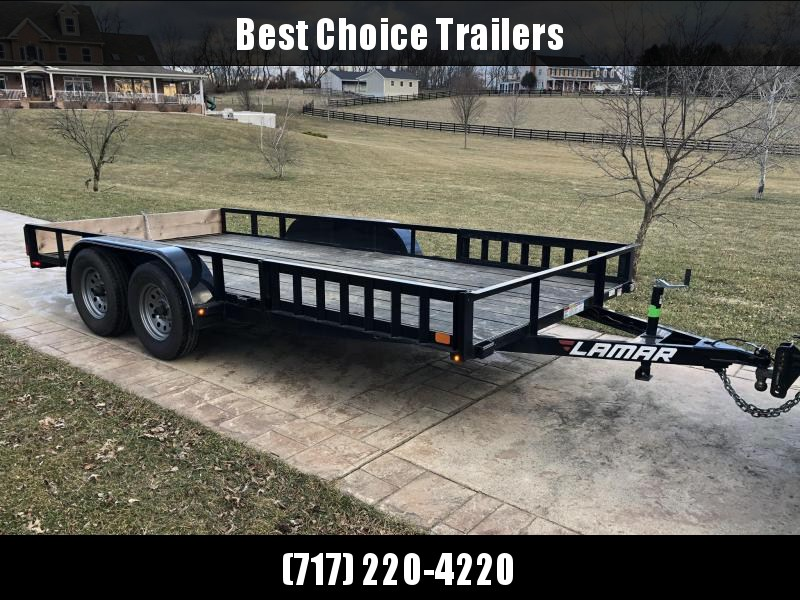 USED 2017 Lamar 7x16' Utility Trailer ATV Ramps 7000# GVW