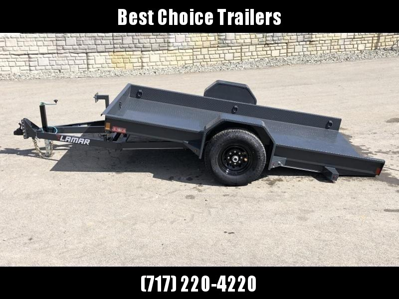 2019 Lamar 59x10' Single Axle Scissor Gravity Tilt Equipment Trailer 7000# * SH591017 * TORSION * STEEL FLOOR 3/16 * WRAPPED SIDES * EXTRA D-RINGS * SPARE MOUNT * CHARCOAL in Ashburn, VA
