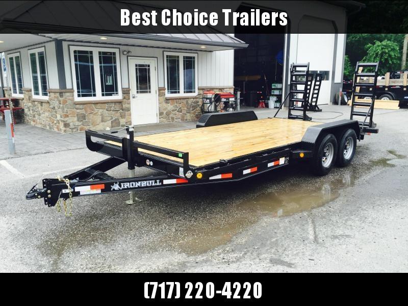 2019 Ironbull 7x18' Lowboy Equipment Trailer 9990# GVW STAND UP RAMPS in Ashburn, VA