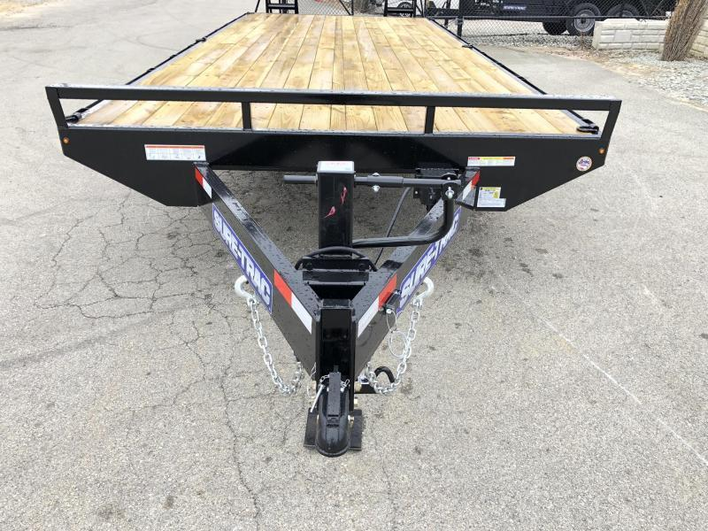 "2019 Sure Trac 18+4' Beavertail Deckover Trailer 15000# * ST102184SDDO-B-150 * 4"" CHANNEL STAND UP RAMPS"