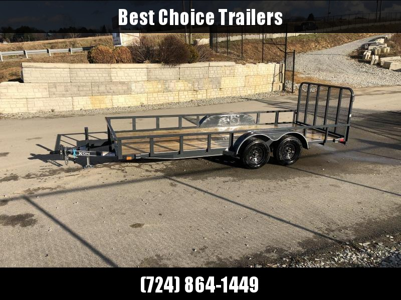 2019 X-On 7x18' Utility Landscape Trailer 7000# GVW * TUBE TOP * CHARCOAL in Ashburn, VA