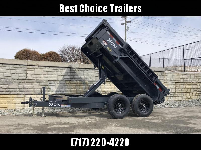 2019 X-on 6X10' Low Profile Dump Trailer 9990# GVW * TARP KIT * SCISSOR * 3 WAY GATE * 10 GA SIDES & FLOOR * 110V CHARGER * CAST COUPLER * DROP LEG JACK