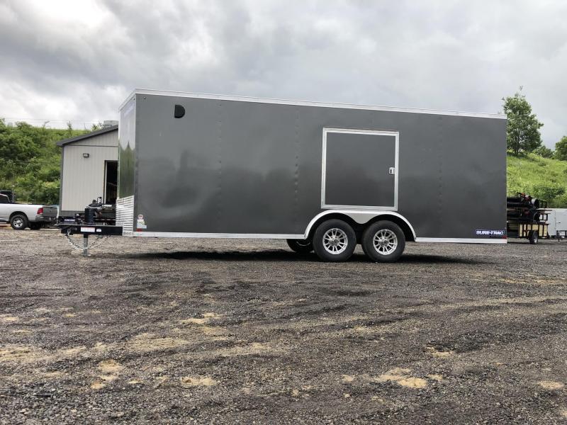 "2019 Sure-Trac 8.5x20' Enclosed Car Trailer 9900# GVW * DELUXE * WHITE * 7K JACK * ESCAPE HATCH * FINISHED WALLS * NUDO FLOOR & RAMP * TORSION * 48"" DOOR & MORE"