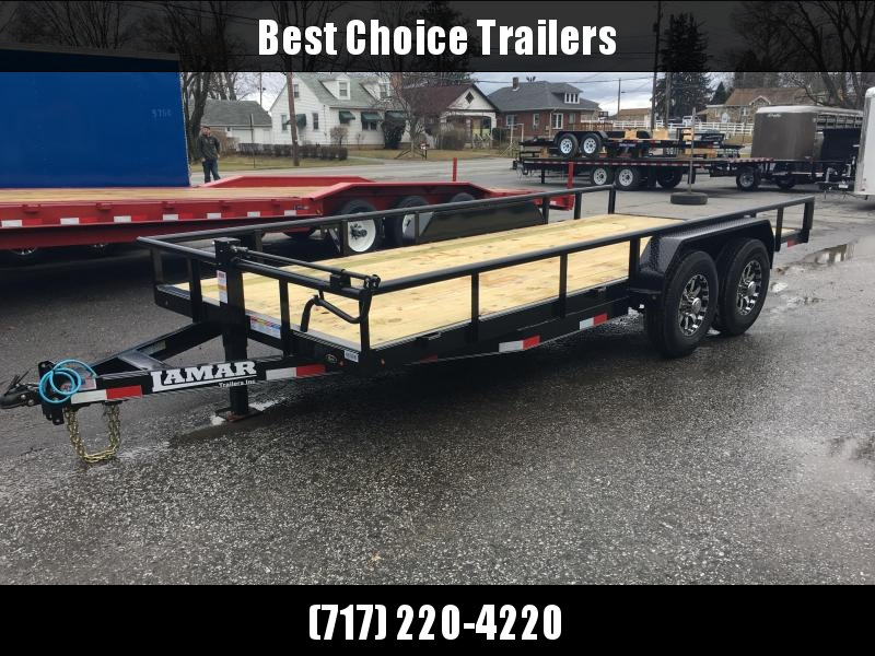 2017 Lamar 7x18' U5 Equipment Trailer 14000# Utility * FREE ALUMINUM WHEELS