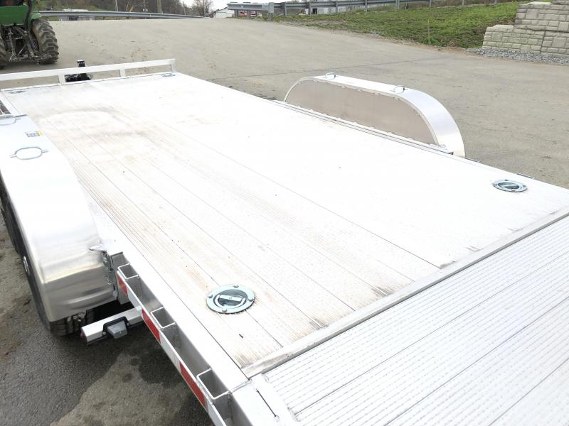 2018 H&H HAD 7x18 ALUMINUM Equipment Trailer 9990# GVW * EXTRUDED ALUMINUM FLOOR * TORSION * SWIVEL D-RINGS * EXTRA STAKE POCKETS * CLEARANCE