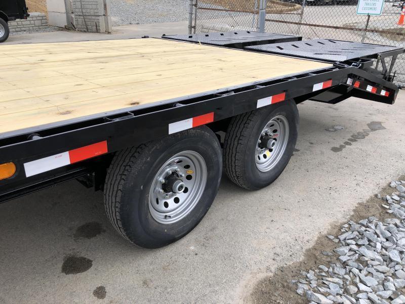2019 Ironbull 102x20+5' Gooseneck Beavertail Deckover Flatbed 14000# * FULL WIDTH RAMPAGE RAMPS