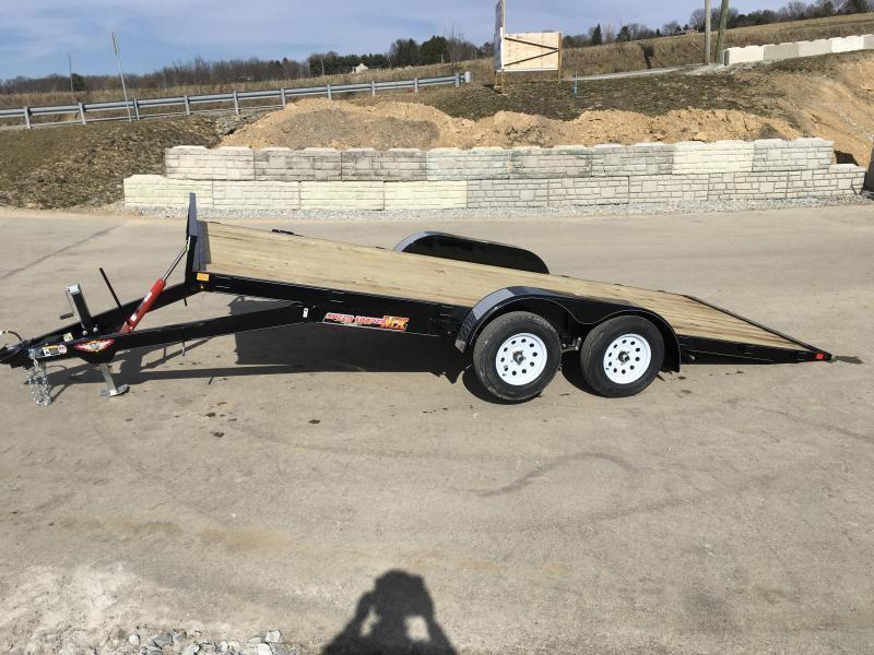 2018 H&H 7x18' MX Manual Tilt Car Hauler 7000# GVW * CLEARANCE