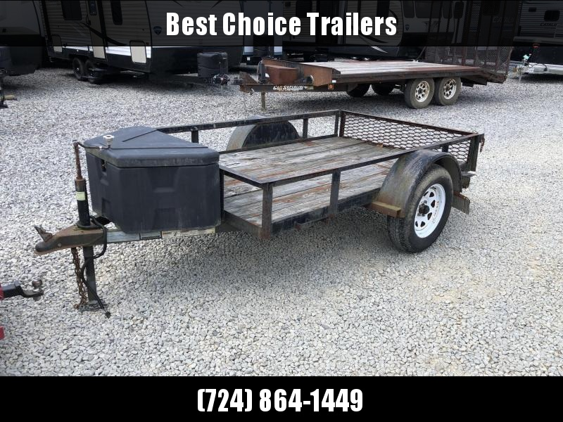 USED 2009 Top Brand 5x8' Utility Landscape Trailer 2990# GVW * TOOLBOX