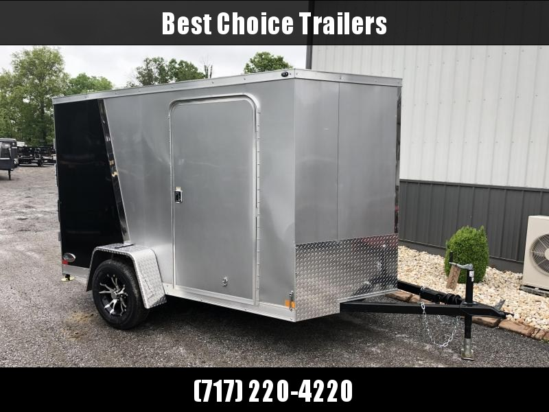 2018 Wells Cargo 6x10' VG500 Enclosed Cargo Trailer 2990# GVW * RAMP DOOR * BLACK N SILVER W DIVIDER