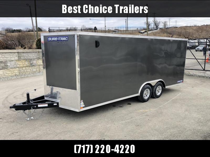 2019 Sure-Trac 8.5x20' Enclosed Car Trailer 9900# GVW * CHARCOAL * 7K DROP LEG JACK