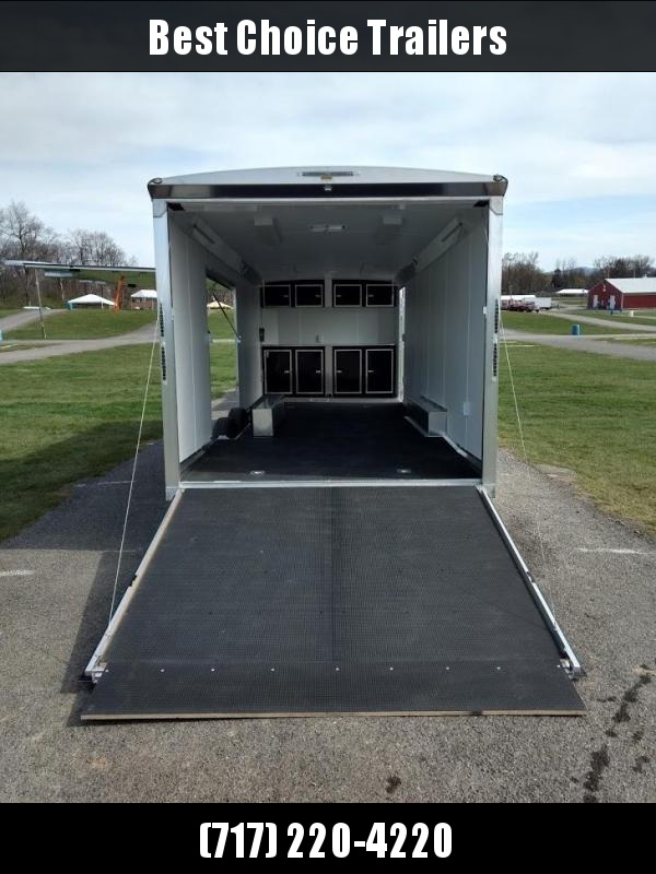 2018 NEO 8.5x26' NACX Aluminum Spread Axle Round Top Enclosed Car Hauler Trailer 9990# GVW NACX2685R * NUDO FLOOR/RAMP *  CABINETS * ESCAPE DOOR * 110V PACKAGE * LOADED