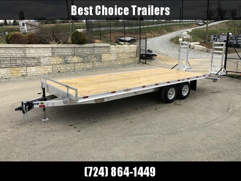 2019 H&H 102x16+4 Aluminum Deckover Equipment Trailer 9900# * ALUMINUM STAND UP RAMPS