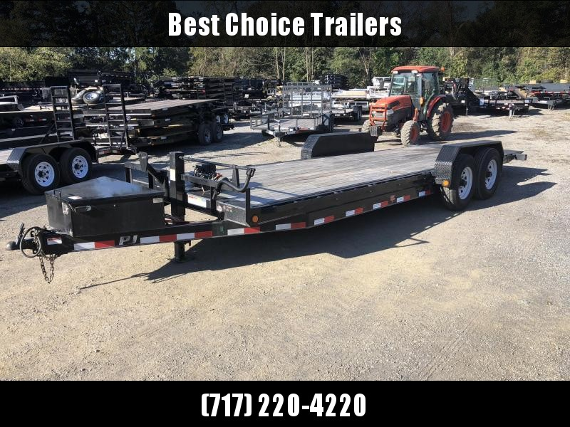 USED 2017 PJ 7x22' 14000#  Power Tilt Equipment Trailer *