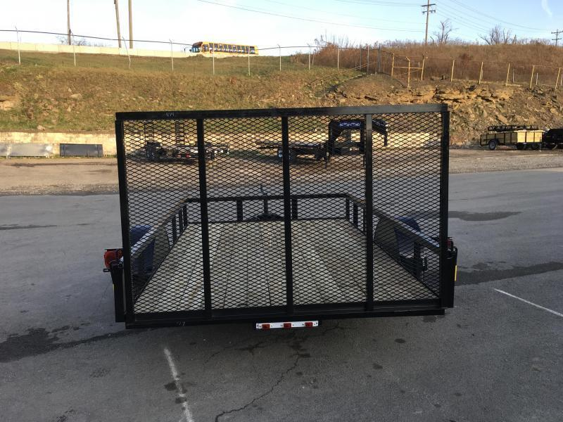 "2019 AMO 78""x10' Angle Iron Utility Landscape Trailer 2990# GVW w/ Gate"