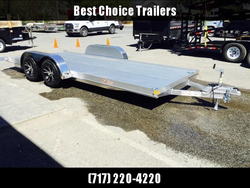 2018 Kiefer 7x18' 7000# Aluminum Car Hauler TORSION EXTRUDED FLOOR ALUMINUM WHEELS LOW LOAD ANGLE 6' RAMPS * CLEARANCE