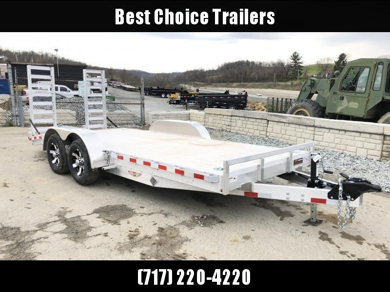 2018 H&H HAD 7x20 ALUMINUM Equipment Trailer 9990# GVW * EXTRUDED ALUMINUM FLOOR * TORSION * SWIVEL D-RINGS * EXTRA STAKE POCKETS