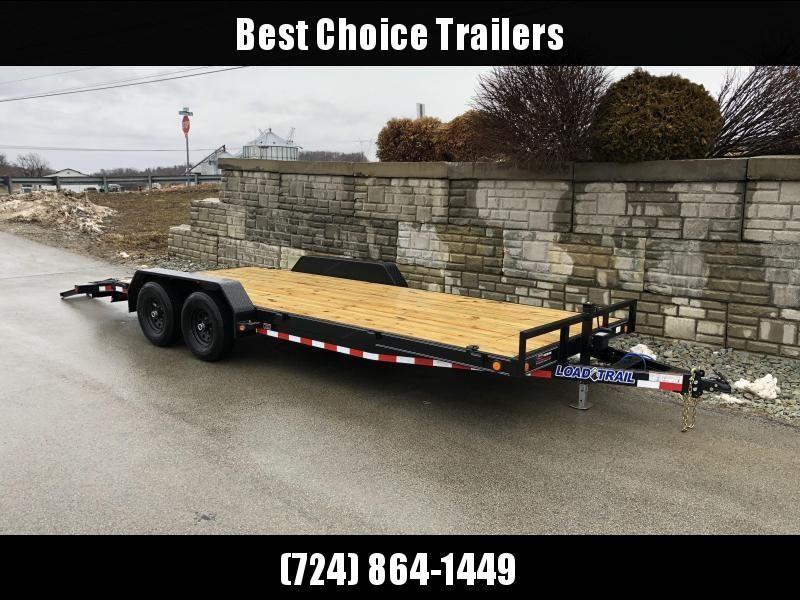 2019 Load Trail 7x20' Car Hauler Trailer 9990# GVW * CH8320052 * DEXTERS * POWDER PRIMER * BLACKOUT * 2-3-2 WARRANTY