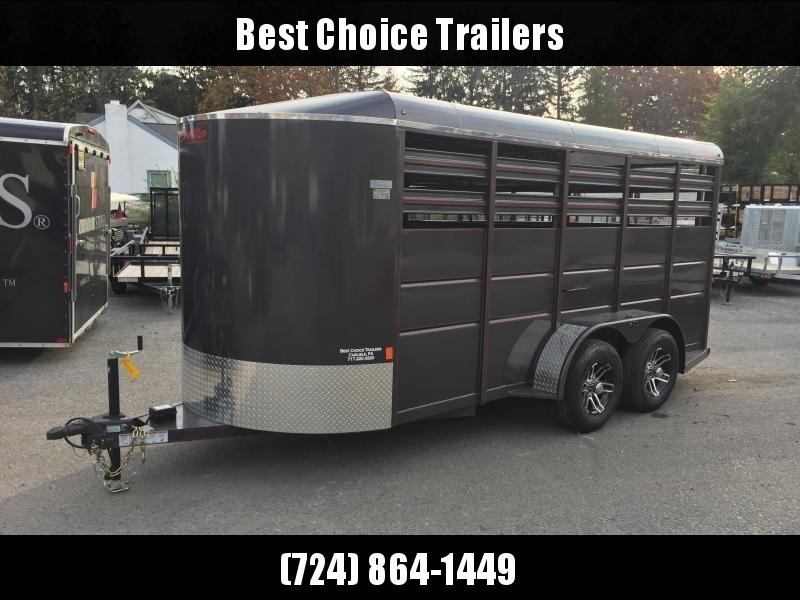 2019 Delta 500ES 16' Livestock Trailer 7000# GVW * BEIGE * CENTER GATE * DEXTER'S in Ashburn, VA