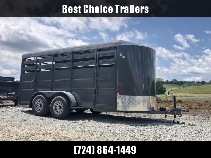 2019 Delta 500ES 16' Livestock Trailer 7000# GVW * GREY * CENTER GATE * DEXTER'S