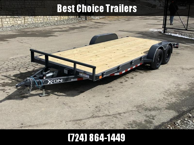 2019 X-On 7x20' Car Hauler Trailer 7000# GVW * CHARCOAL