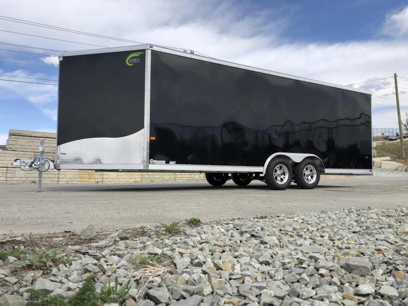 2019 NEO 8.5x20' NCBR2085 Aluminum Enclosed Car Hauler Trailer 7000# * ROUND TOP * NUDO FLOOR & RAMP * ALUMINUM WHEELS * BLACK