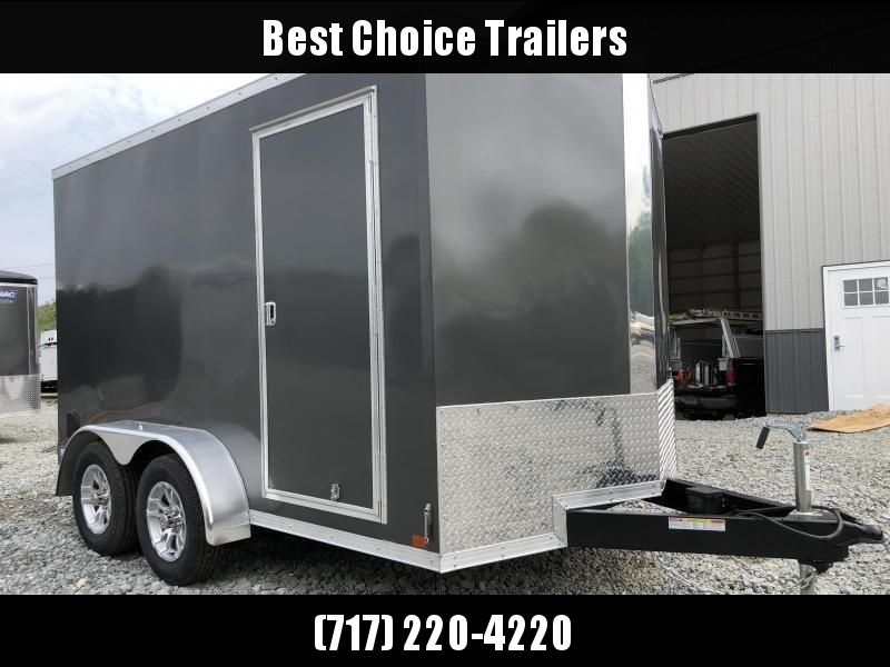 2019 Sure-Trac 7x12' Enclosed Cargo Trailer 7000# GVW * CHARCOAL