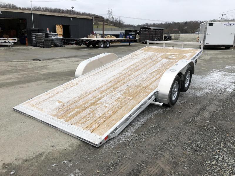 2019 H&H 7x18' Aluminum Manual Tilt Car Trailer 7000# GVW