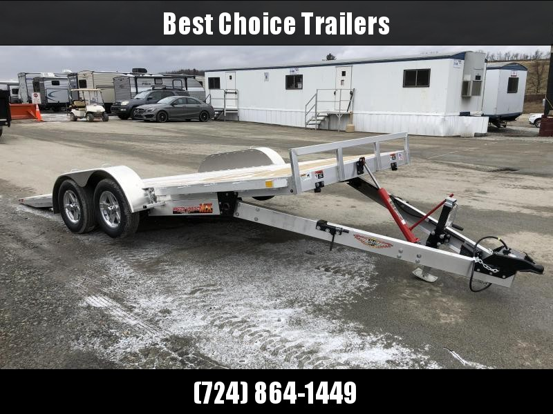2019 H&H 7x18' Aluminum Manual Tilt Car Trailer 7000# GVW