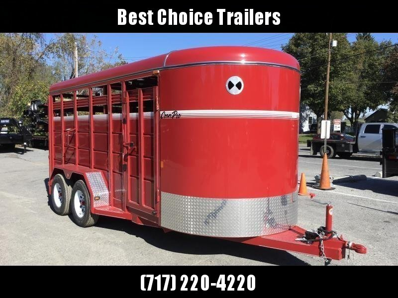 2018 Corn Pro 16' Livestock Trailer 7000# GVW * RED