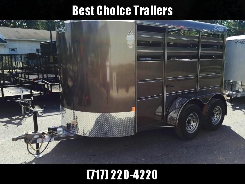 2019 Delta 12' Livestock Trailer 500ES * Beige