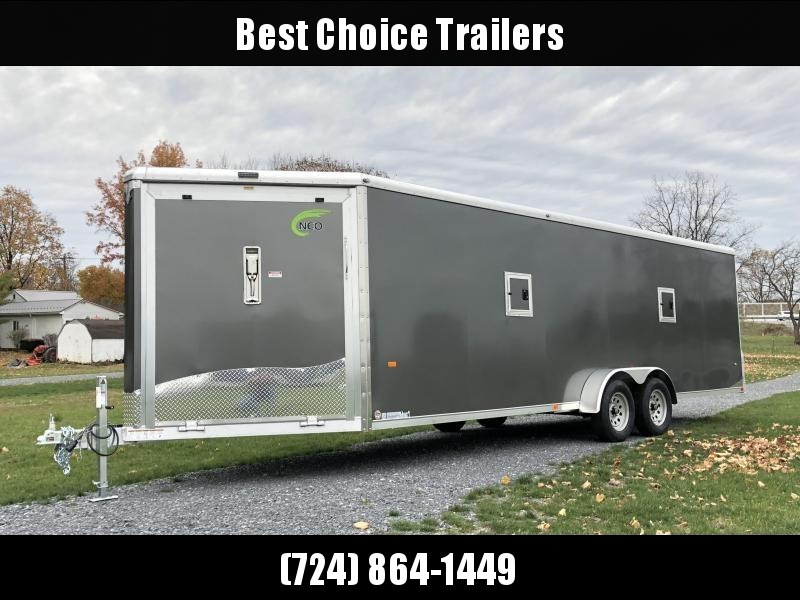 2019 Neo 7x28' NASR Aluminum Enclosed All-Sport Trailer * DELUXE MODEL * SILVER * UTV * ATV * Motorcycle * Snowmobile in Ashburn, VA