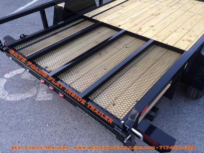 2019 Sure-Trac 7x16' Tube Top Three Board High Side Landscape Utility Trailer 7000# GVW