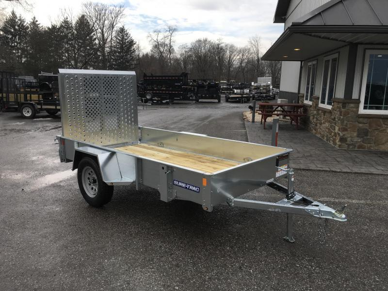 2019 Sure-Trac 5x10' Galvanized High Side Utility Trailer 2990# GVW
