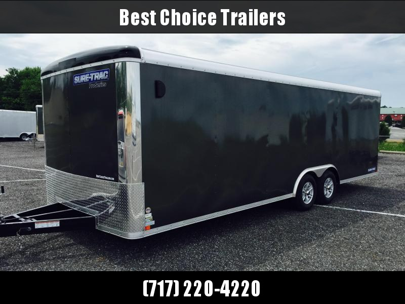 2018 Sure-Trac 8.5x24' Round Top Enclosed Car Hauler 9900# GVW * SCREWLESS